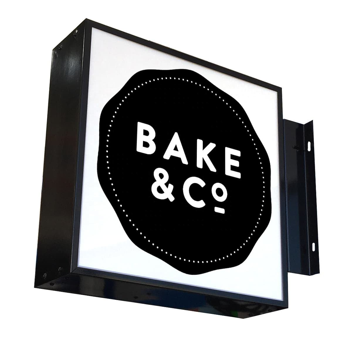 LED Wall Mounted Outdoor Advertising Rotating Light Box Signs für Company