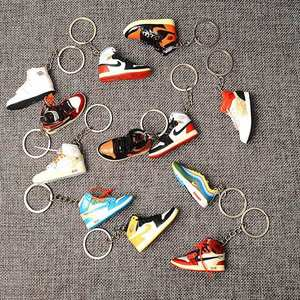 3D Mini Sneakers AJ Jordan Shoe Keychain Model With Metal Ring Keychain Pair