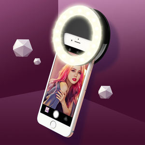 Selfie video flash dimmer photographic mobile led phone selfie ring light