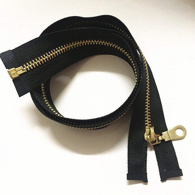 1pcs 70cm 28 Inch Jacket Style Brass Metal Separator Zipper On Black Nylon Coil Zippers
