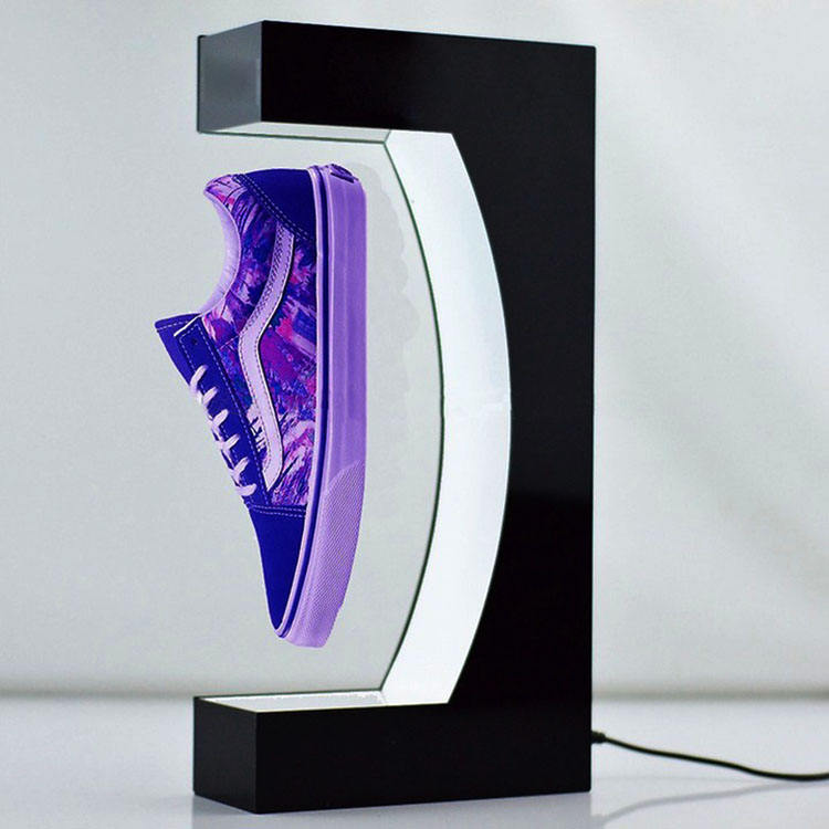 Perigon rotation magnetic floating shoe display rotating display stand magnetic levitation products