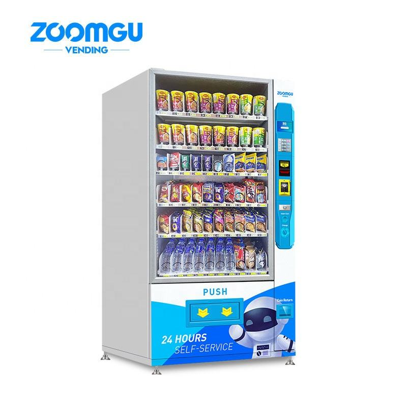 ZG Office Small Combo Automatic Distributors Of Drinks Vendor Ce Approved Snack Station Vending Machine With Card Reader