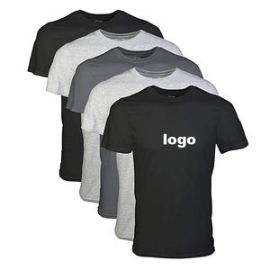 Men's T-shirt with Round Neck, All Kinds of Fabrics Available
