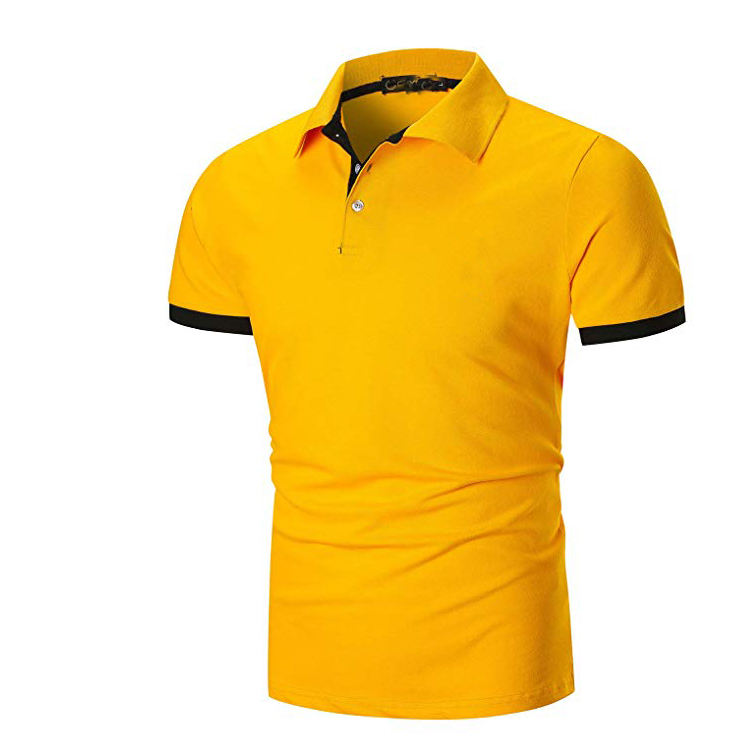 Mens <span class=keywords><strong>Polo</strong></span> Shirt Manica Corta Casual Golf Tennis T-Shirt
