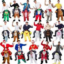 Magic animals doll trousers parody cartoons Santa Claus pants Halloween Christmas costume