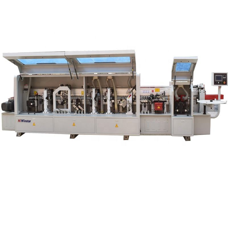 WS486J pvc mdf pur automatic edge bander machine straight line acrylic edge banding machine for wood furniture