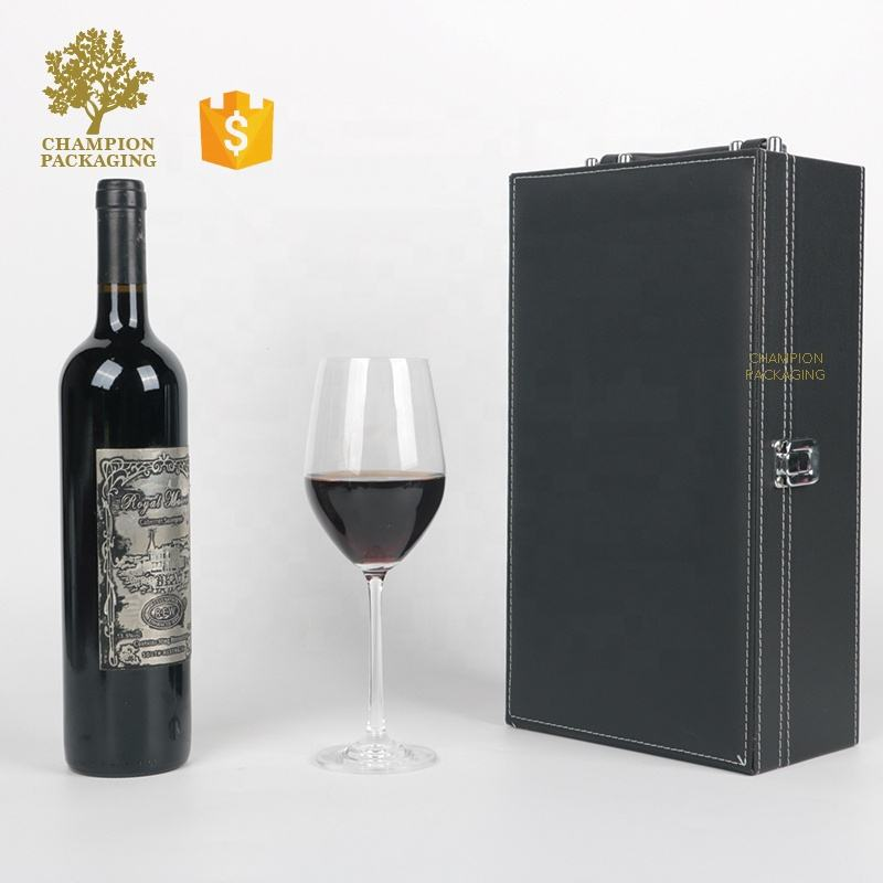 Wholesale packaging wooden gift box for wine , Luxury Customized Wooden Wine Box with handle
