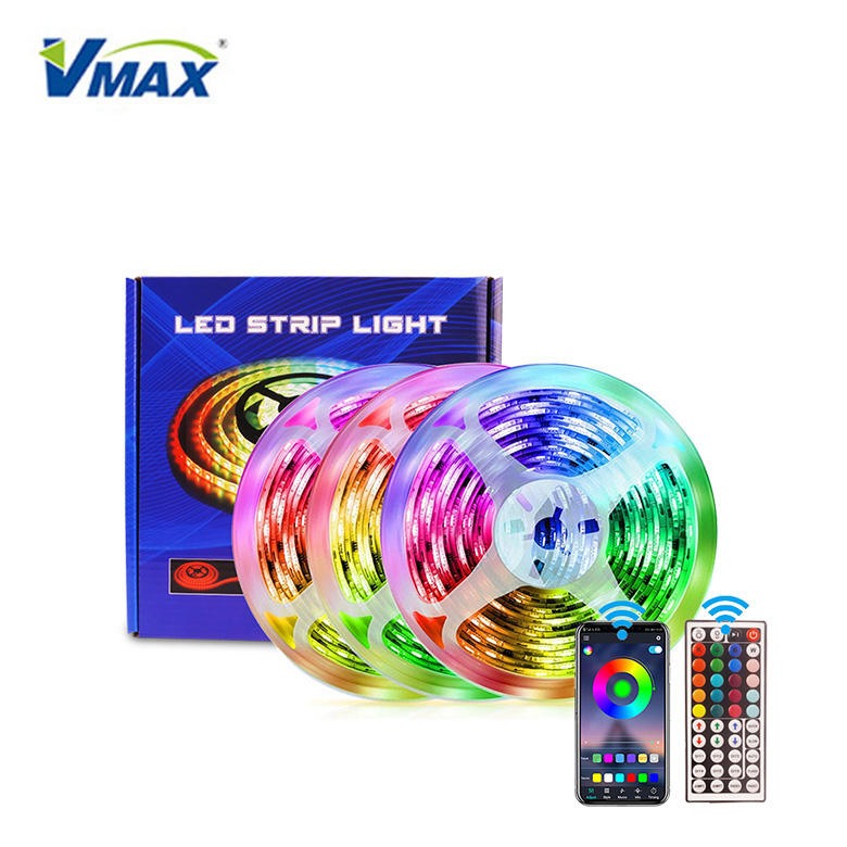 cob neon power supply set smart remote control color changing rgb light kit waterproof flexible led strip lights