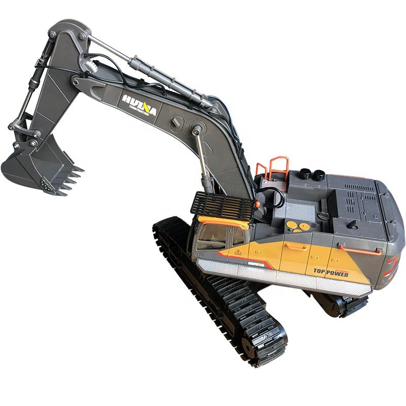 Huina New design 1592 592 rc remote control excavator 1/14 22CH rc metal car toys rc car vs Huina 580
