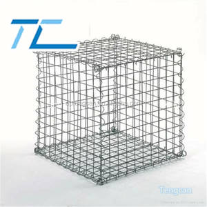1x1x1m Welded Galvanized Landscape Stone Cage Wire Mesh Gabion from Factory