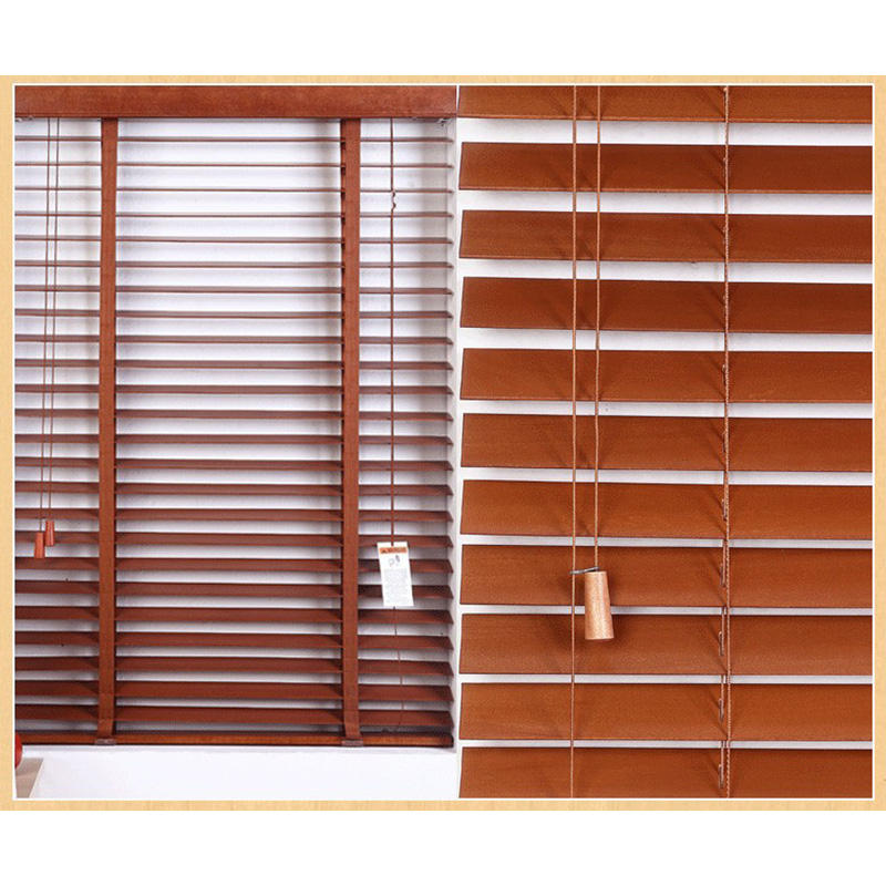 Wood Blinds 50mm Slat Real Basswood Shutter Customized Size Window Wooden Venetian Blinds Shutter For Home Decoration
