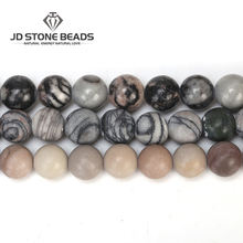 White Black Color Natural Net Stone Beads Wholesale Frost Stone Beads Semi-precious Stones Accessories For Gemstone Jewelry