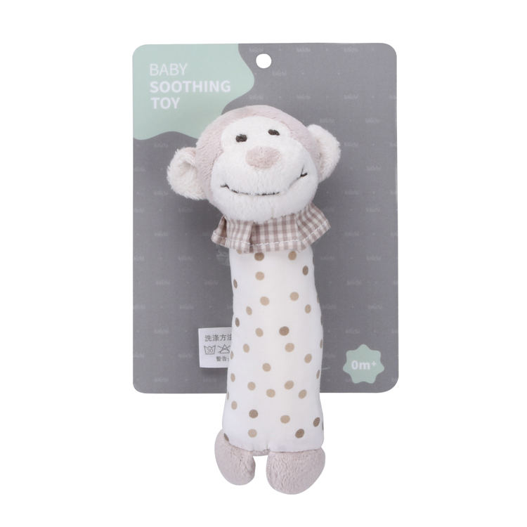 Comfort Plush Baby Rattle ROCK Soothing ของเล่นลิง