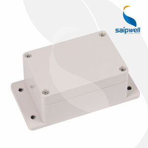 SAIPWELL Project Box ABS Plastic IP65 Waterproof Dustproof Electrical Junction Box Enclosure with Fixed Ear 100*68*50mm
