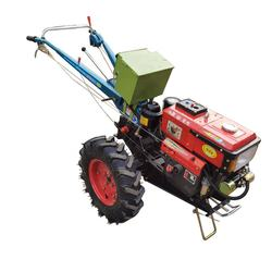Mini 12hp hand walking agricultural tractor with equipments