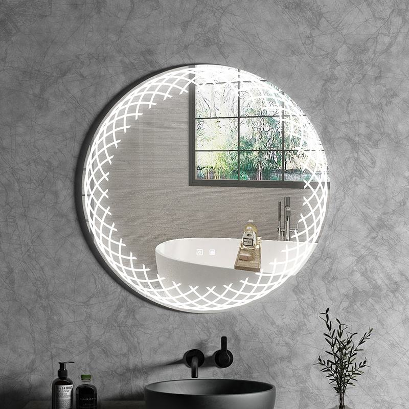 LED bathroom mirror with sensor touch and defogger glass mirror