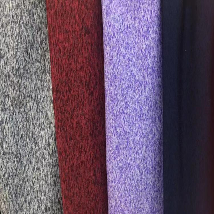 Wholesales 150D 10%spandex 90%polyester polar fleece knitted fabric for sport wear, fitness wear, yoga wear.