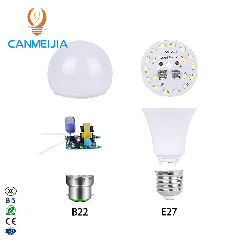 3W 5W 7W 9W 12W 15W 18W E27 B22 bulb holder/led bulb spare parts/led bulb driver,led bulb assembly,led bulb raw material