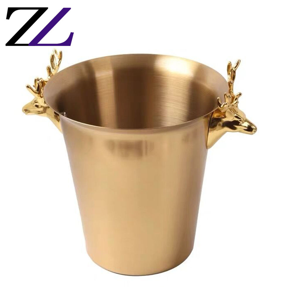 Buckets for drinks coolers & holders cubeta de hielo balde de gelo gold party ice champagne beer wine chilling types of buckets