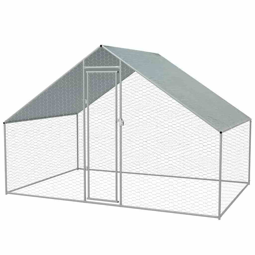 UK hot galvanized chicken coop run rabbit cage large dog cage outdoor pet run cages hen house