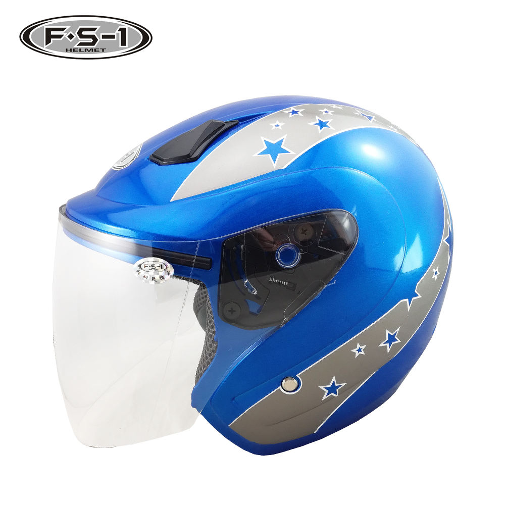 ABS adult helmet arsai ECE / DOT open face motorcycle helmets blue color