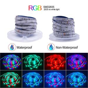5M 10M LED Strip Lights Sync To Music RGB LED Tape SMD 2835 Color Changing Rope Light Bluetooth Smart Phone Control Lights