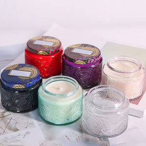 Customized Empty Glass Candle Jars Glass With Lids
