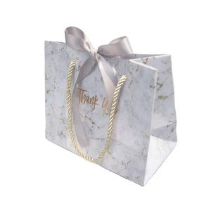 Marbling Thank You Bags wedding gift bag with tissue paper bag with string