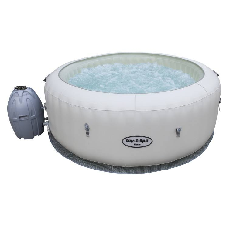 Bestway 54148 Lay-Z-Spa Paris Hot Tub Air Jet portable massage spa with LED Lights For 4-6 Person
