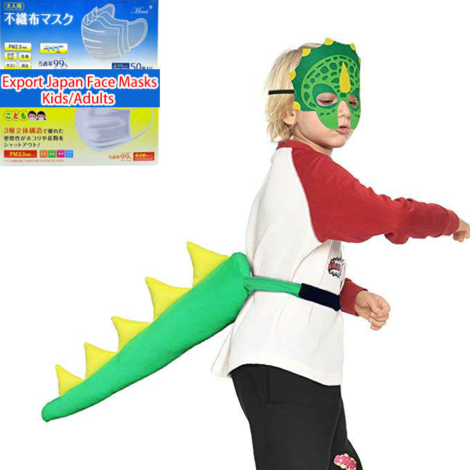 Kids Dinosaur Tails And Mask Dragon Halloween Birthday Party Dress up Costumes Accessories Animal Toys