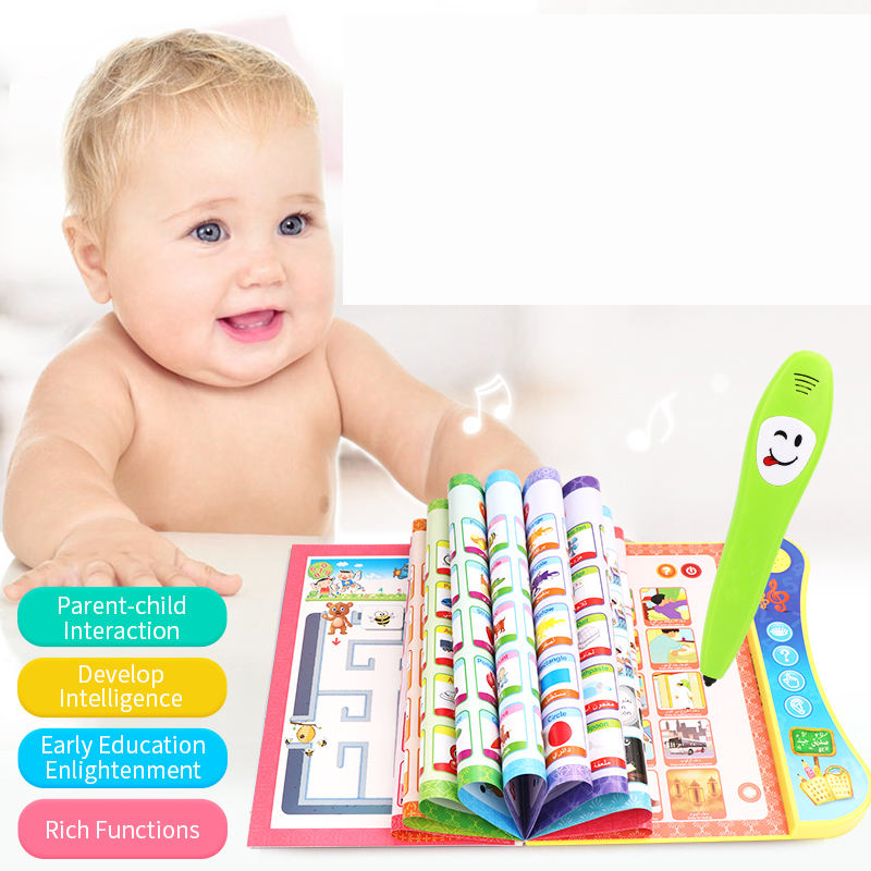 Children's Intelligence Book To Learn To Read English E-book Toys With Talking Pen For Sale Learning English Toy Book
