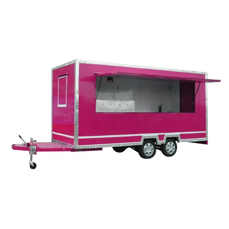 Factory Price Outdoor Barbecue Hot Dog Pizza Mobile Food Trailer Street Snack Mobile Food Cart Ice Cream Food Truck For Sale USA