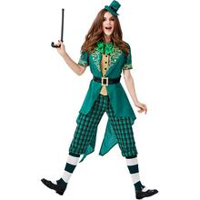 Halloween Carnival Irish Leprechaun Family Dress Up St. Parque Carnival Costumes Stage Performance Costumes