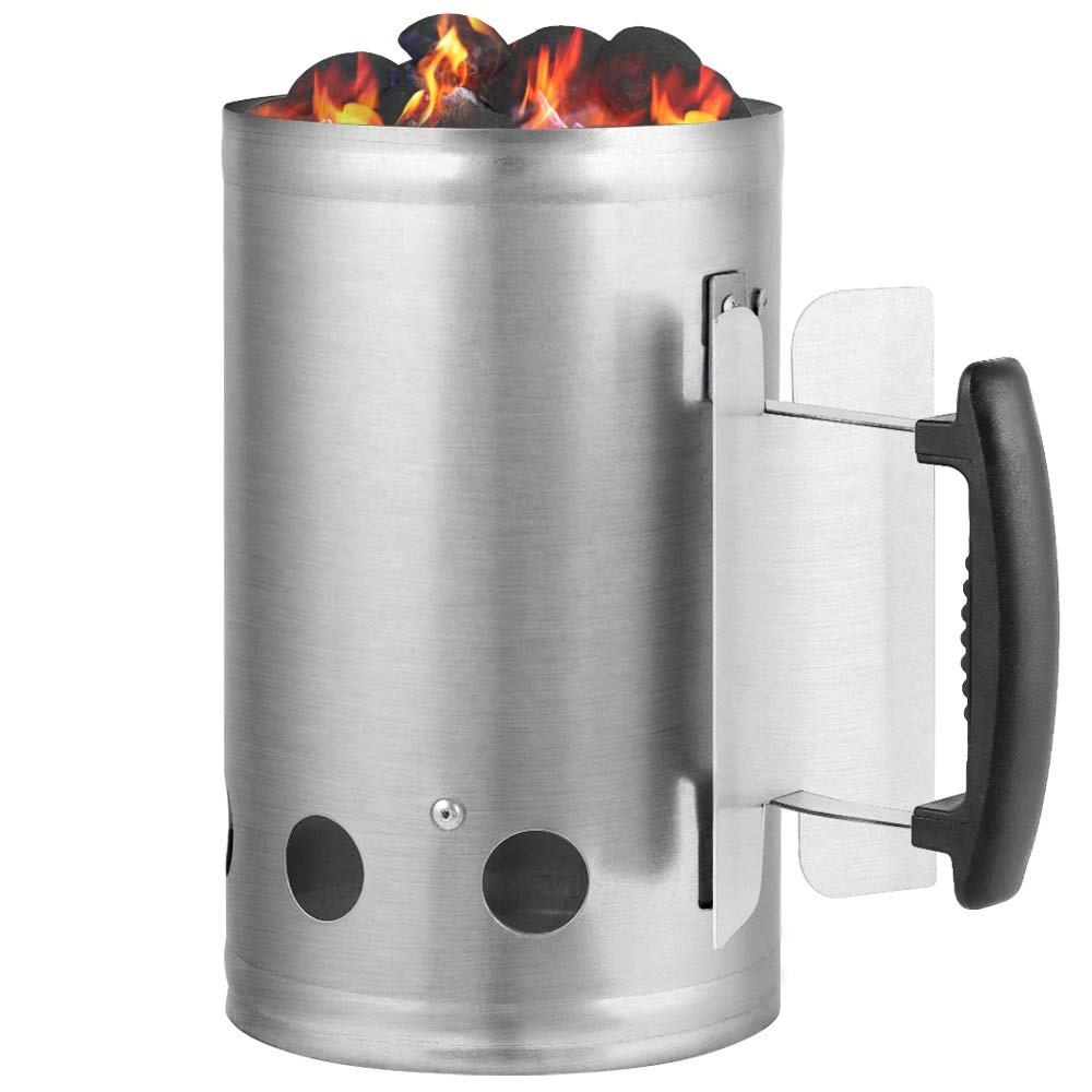 Metal charcoal burner fire starter for coal