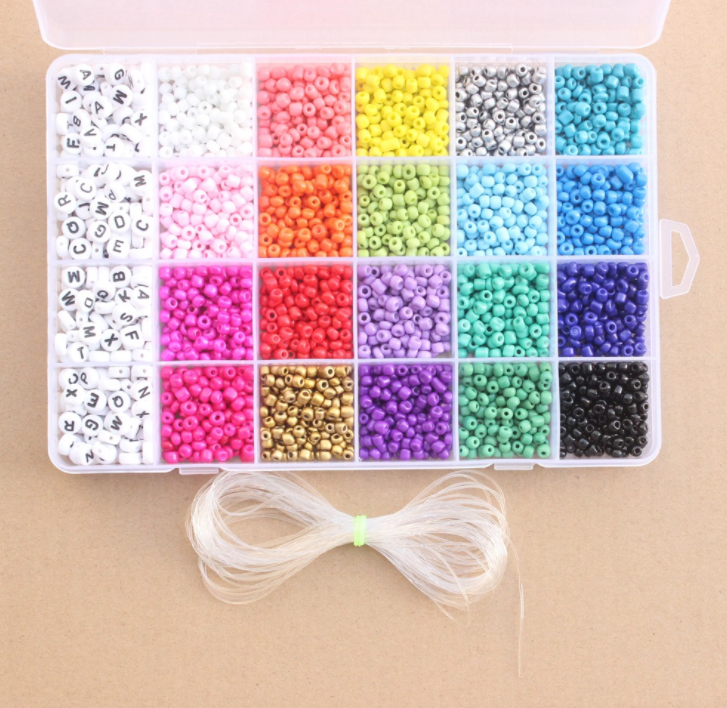 YIWU Factory sell cheap and colorful 24color round shape waist beads glass Seed beads for DIY