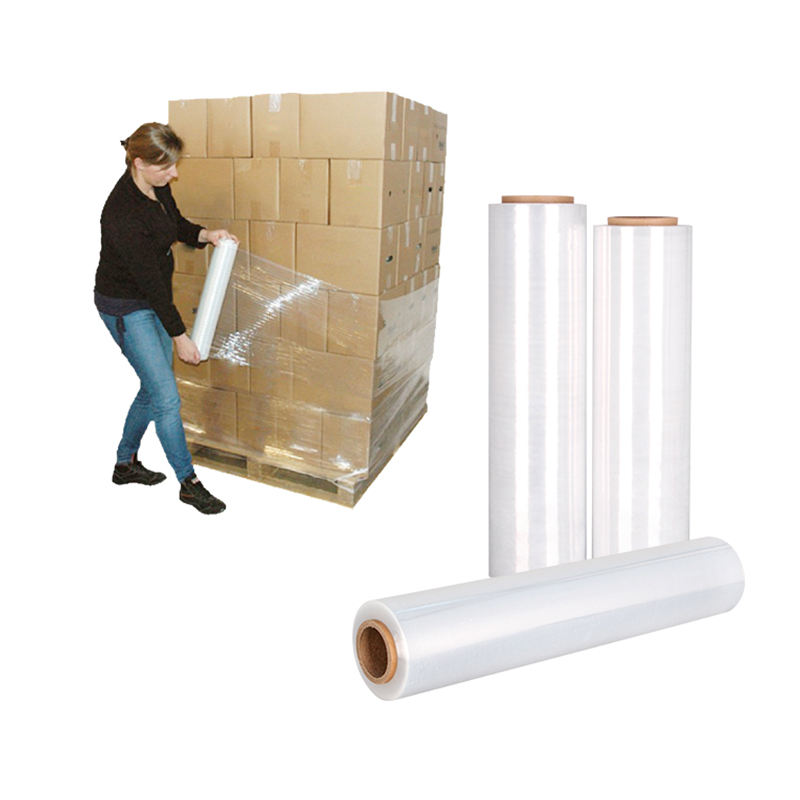 Free Sample Clear plastic LLDPE pallet stretch film wrap