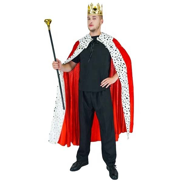 Carnival Masquerade Party Cosplay King Cape Fancy Dress Luxury King Costume For Adult Men