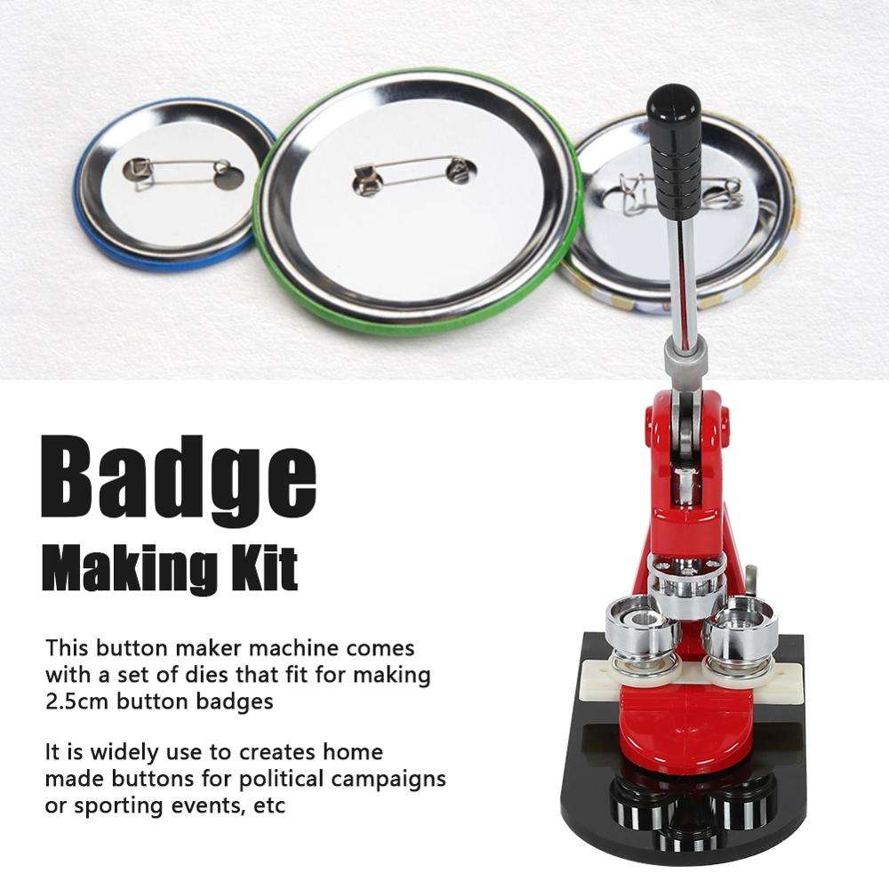 China Factory Sell Manual design wholesale square round oval button badge maker machine