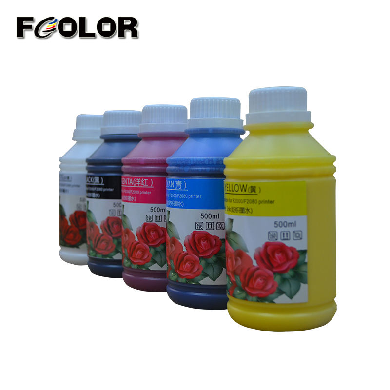 Cheap Factory Price Fcolor textile ink for epson dx5 water based screen printing oil base puff plastisol