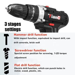Electric Drill Cordless Screwdriver Impact Drill 48V Max Lithium Battery Mini Drill Cordless Screwdriver Power Tools