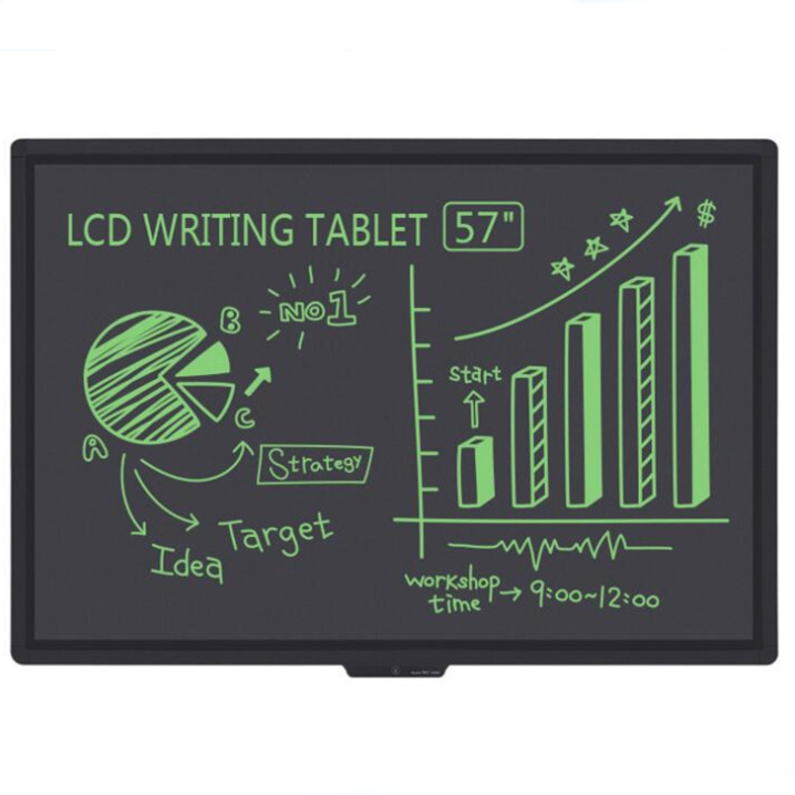 57 inch Dustiess and inkless electronic Lcd writing drawing blackboard With Lock Key one key clear