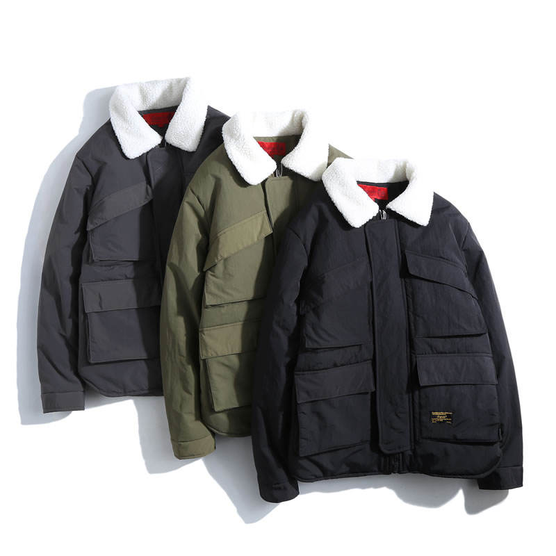 Plain Unisex Winter Quilted Warm OEM Windbreaker Padded Jacket