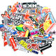 100 pcs/bag JDM Text waterproof PVC stickers vinyl removable stickers skateboard/cup/suitcase/car/laptop stickers