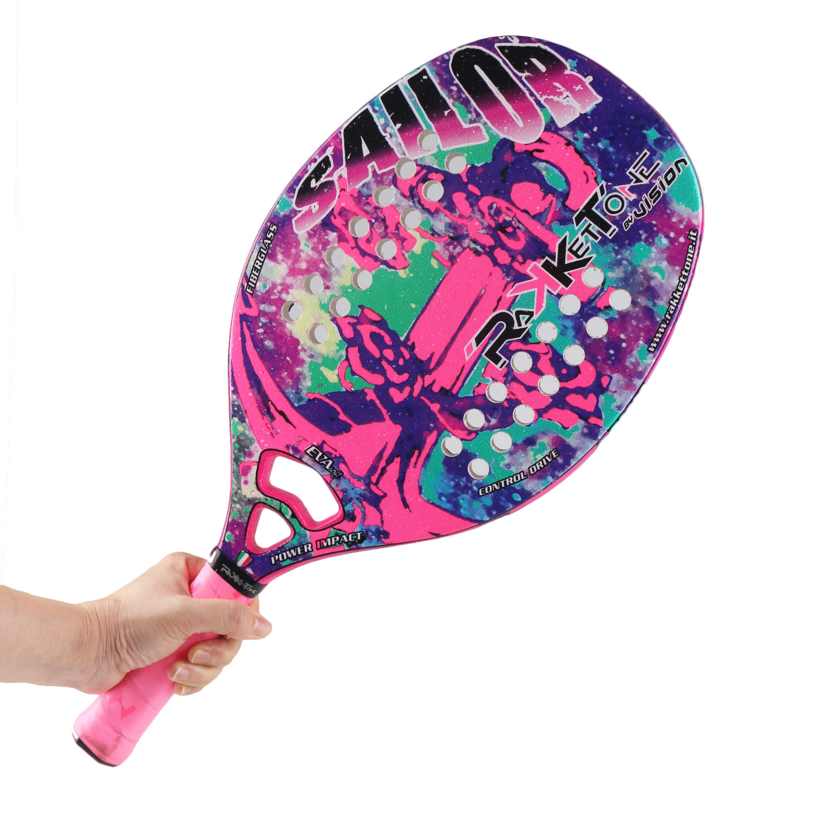 Italy Brazil Particle Paint Carbon Beach Tennis Racket