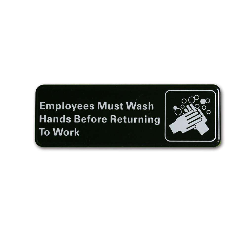 "Amazon type self-adhesive Wash hands signs 3*9"" restaurant sign"