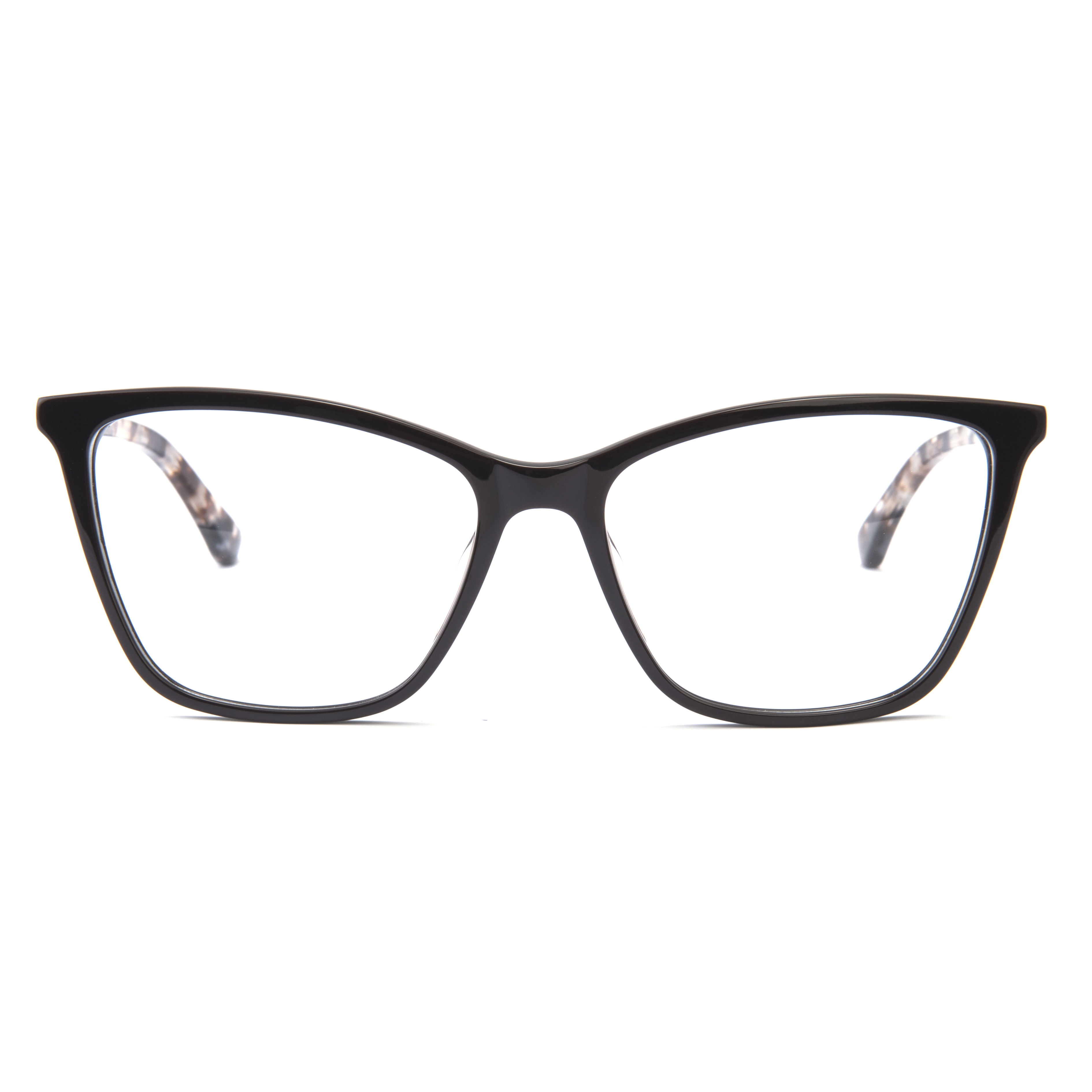 Square color frame lace mirror leg acetate optical frame