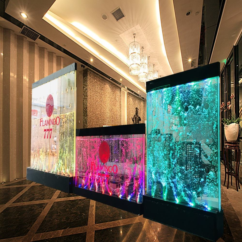 LED Water feature bubble wall used for bar lounge banquet hall wall decoration