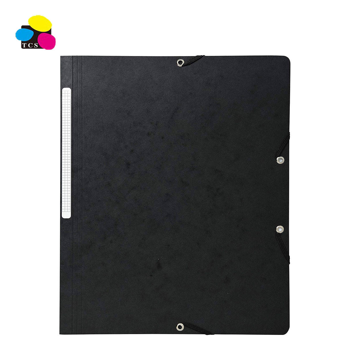 Factory High Quality Good Design 350G Pressboard Holding 200 Sheets Elastic Bands Folders Without Flap For Office Document