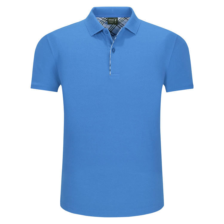 90% polyester 10% elastane short-sleeved men's slim fit polo shirts