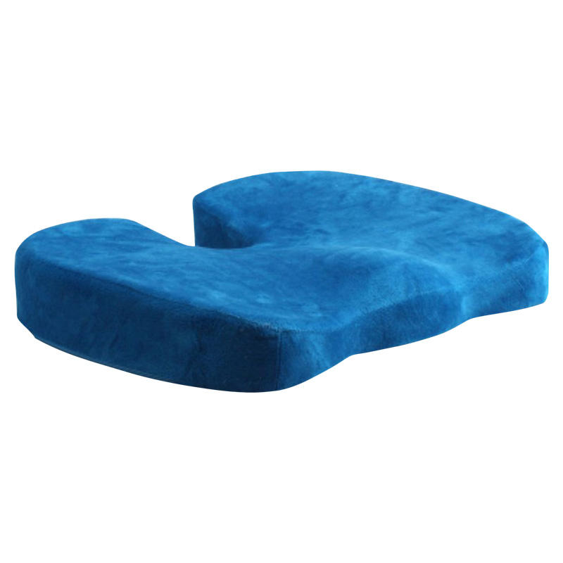 U-Type Velvet Fabric Memory Foam Cushion Suitable For Hip Curve To Support Your Legs